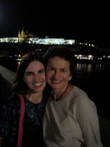 The Bauman Girls on the Charles Bridge at night